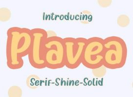 Plavea Display Font