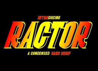 Ractor Display Font