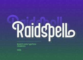 Raidspell Sans Serif Font
