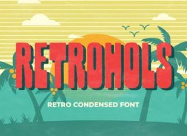 Retrohols Display Font