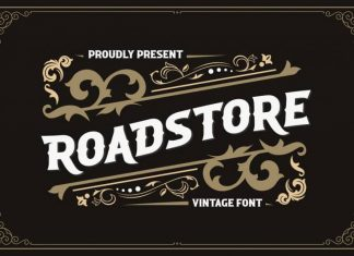 Roadstore Display Font