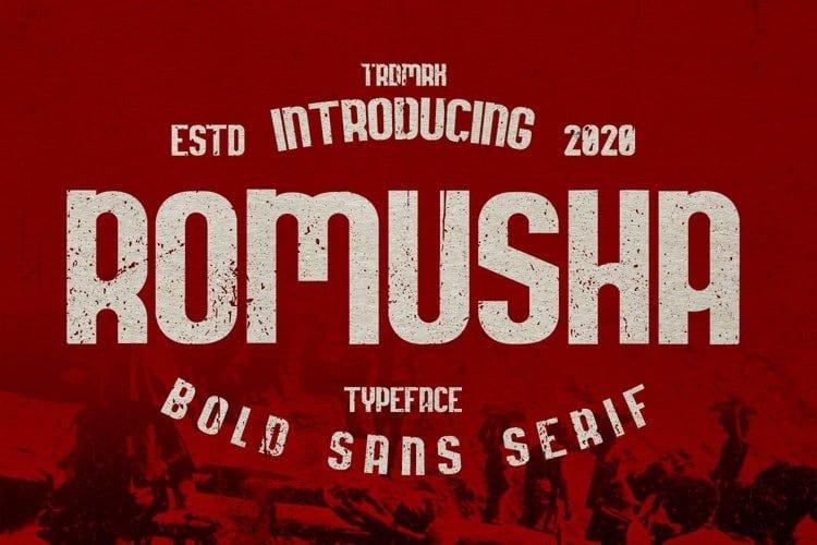 Romusha Display Font