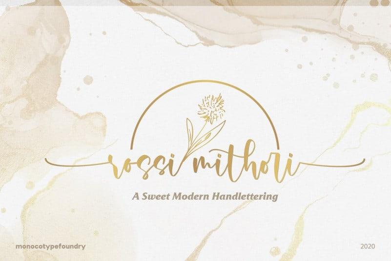 Rossi Mithori Calligraphy Font