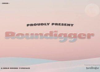 Roundigger Sans Serif Font