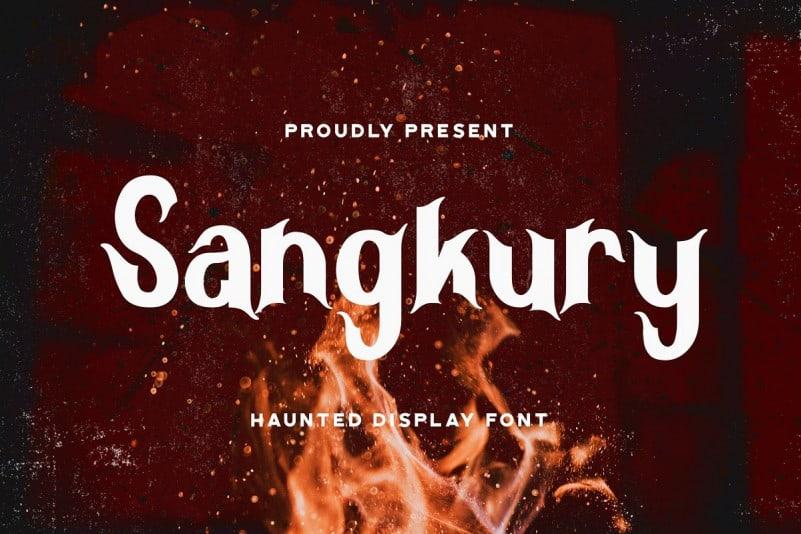 Sangkury Display Font