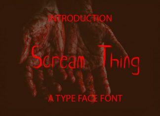 Scream Thing Script Font
