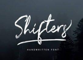 Shifters Brush Font