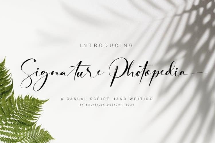 Signature Photopedia Script Font