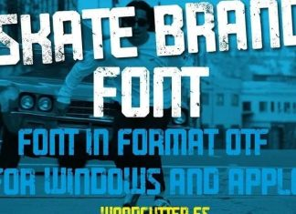 Skate Brand Display Font