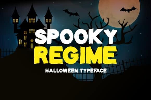 Spooky Regime Display Font