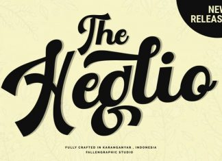 The Heglio Calligraphy Font