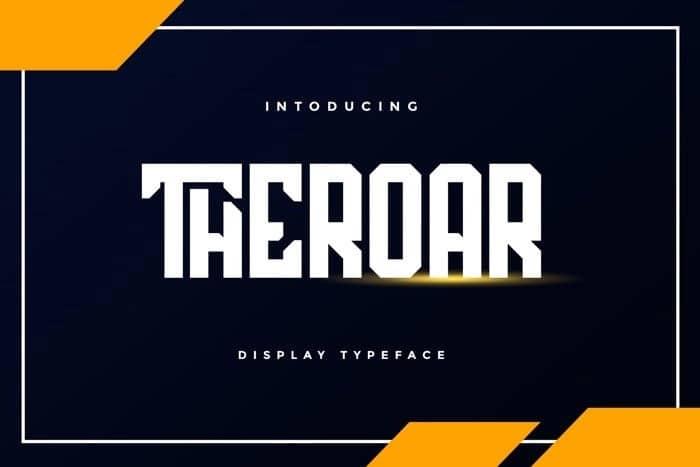 Theroar Display Font