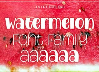 Watermelon Display Font