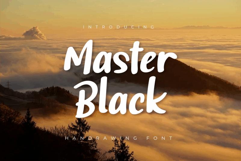 Master Black Script Font