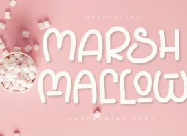 Marshmallow Display Font