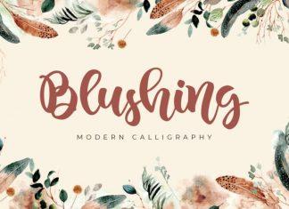 Blushing Script Font
