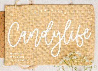 Candylife Monoline Calligraphy Font