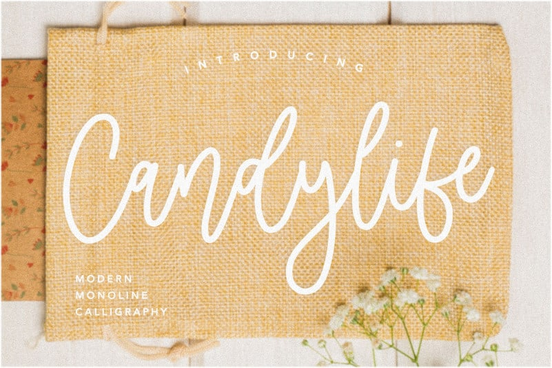 Candylife Monoline Calligraphy Font