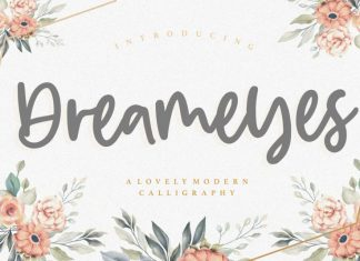 Dreameyes Lovely Modern Calligraphy Font
