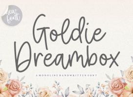 Goldie Dreambox Monoline Handwritten Font