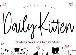 Daily Kitten Handwritten Font