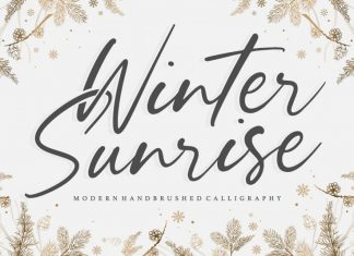 Winter Sunrise Handbrushed Font