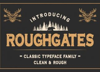 Roughgates Display Font