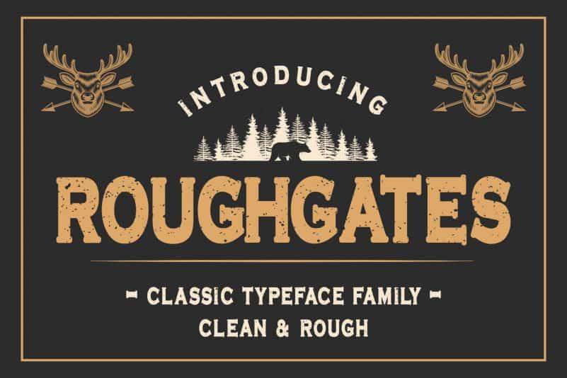 Roughgates Display Font