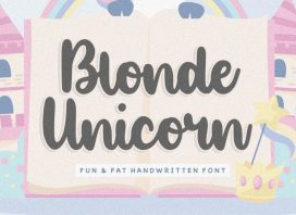 Blonde Unicorn Handwritten Font