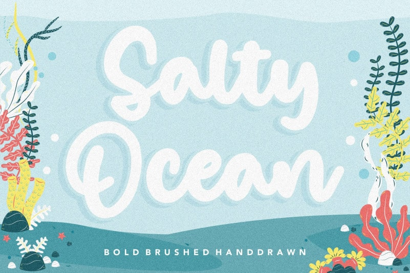 Salty Ocean Brushed Handdraw Font