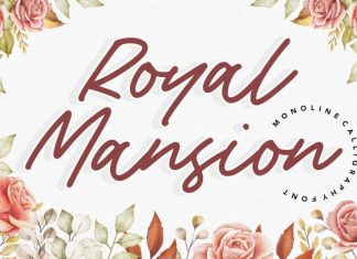 Royal Mansion Monoline Calligraphy Font