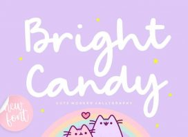 Bright Candy Modern Calligraphy Font
