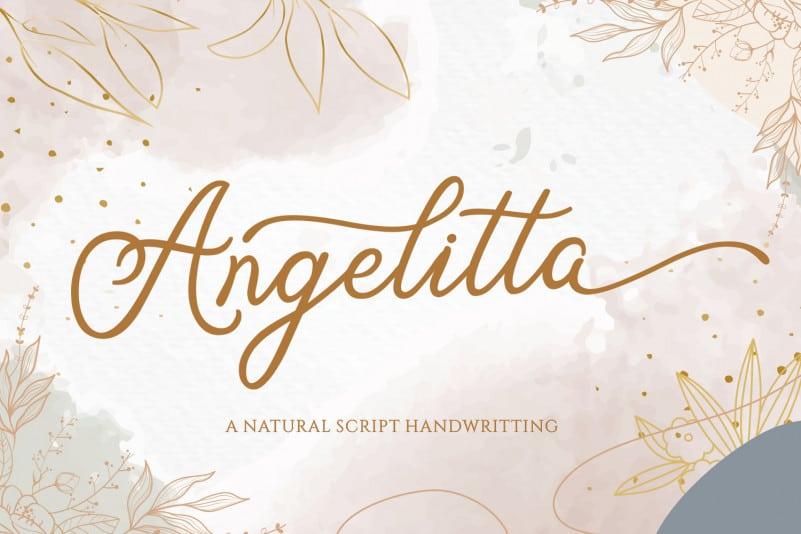 Angelitta Calligraphy Font