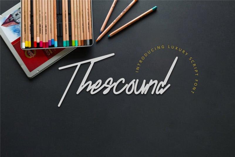 Thescound Handwritten Font