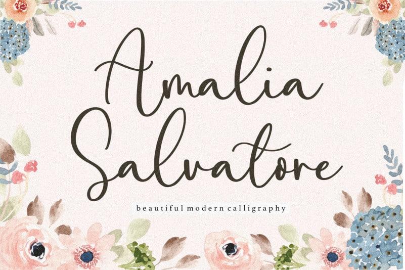 Amalia Salvatore Calligraphy Font