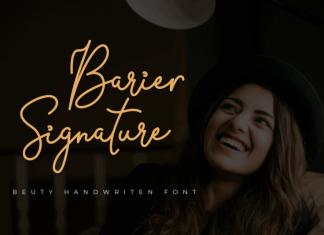 Barier Signature Script Font