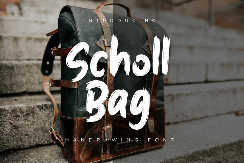Scholl Bag Brush Font