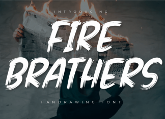 Fire Brathers Brush Font