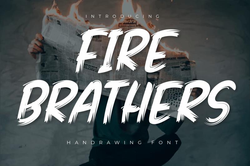 Fire Brathers Brush Font