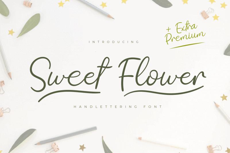 Sweet Flower Script Font