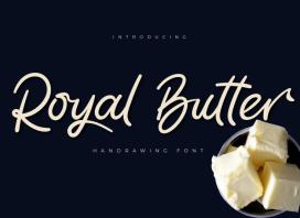 Royal Butter Script Font