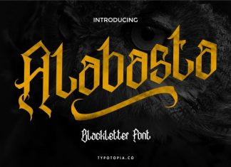 Alabasta Blackletter Font