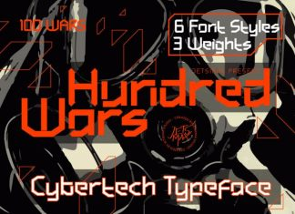 Hundred Wars Cyber Tech Typeface