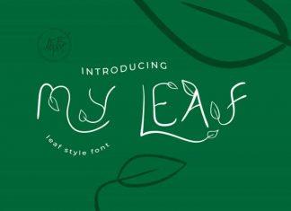 My Leaf Style Font