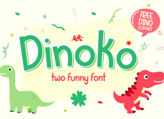 Dinoko Display Font