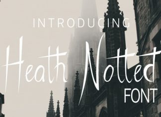 Heath Notted Script Font