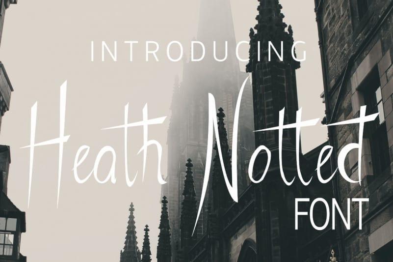 Heath Notted Script Font