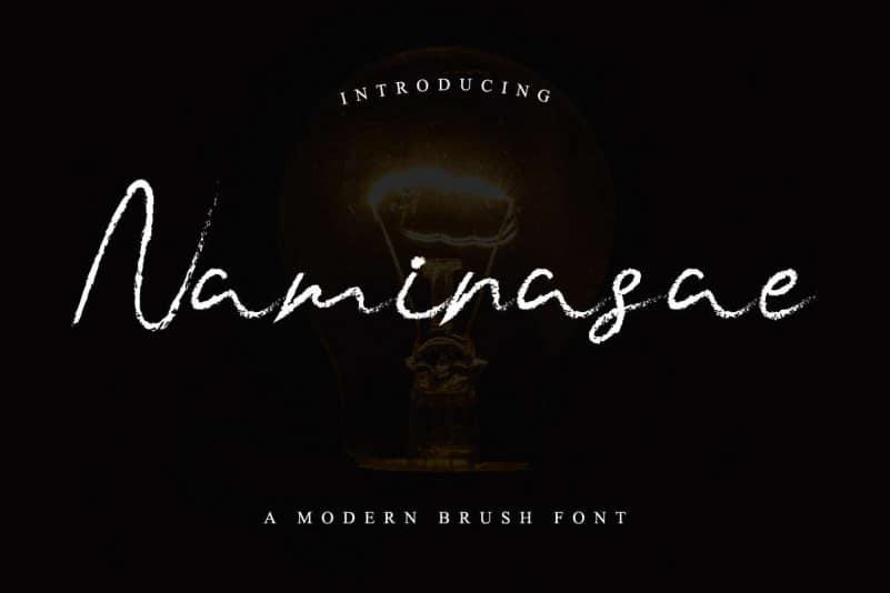 Naminasae Modern Brush Font