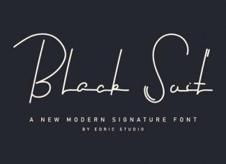 Black Suit Signature Font