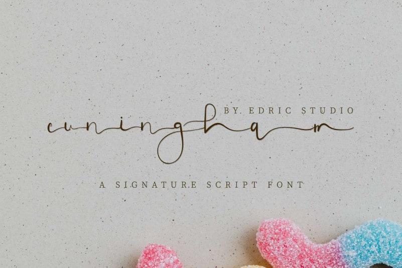 Cuningham Signature Script Font